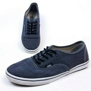 Vans Denim Low Top Shoes Mens 7.5 Casual Sneakers